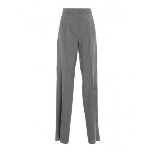 Girl's Clothing Max Mara Spring Summer 2021 calcio pants in grey Petite Wide fit On Line XCUY482