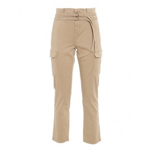 Women's Clothing 7 For All Mankind Spring Summer 2021 paperbag cargo trousers in beige Target New Arrival YIGS501