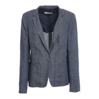 Young Women's Clothing Fabiana Filippi Spring Summer 2021 prince of wales patterned blazer in blue Wide IXHI876